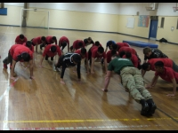 Royal Marines put Students through their paces